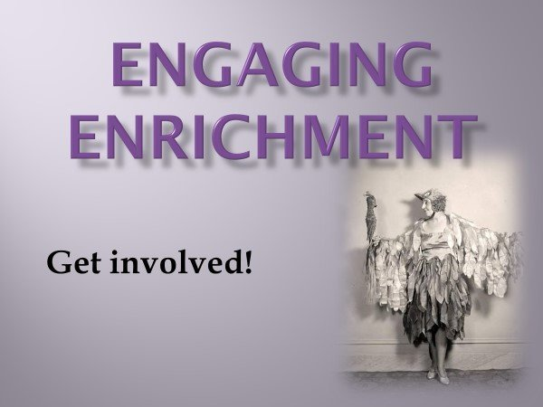 Engaging Enrichment (German Style) Webinar May 13, 2018 at 2:30 PM