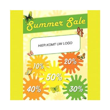 Reclameposter summer sale met logo 50x70cm