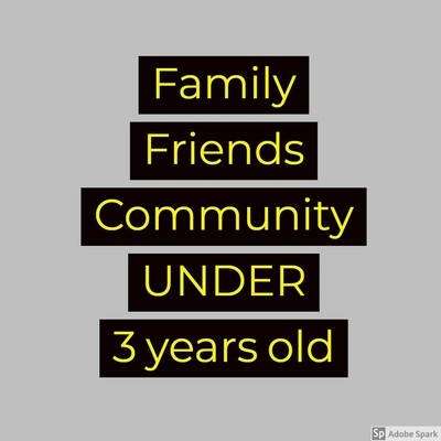Electric Desert - Family / Friends / Community UNDER 3 years old