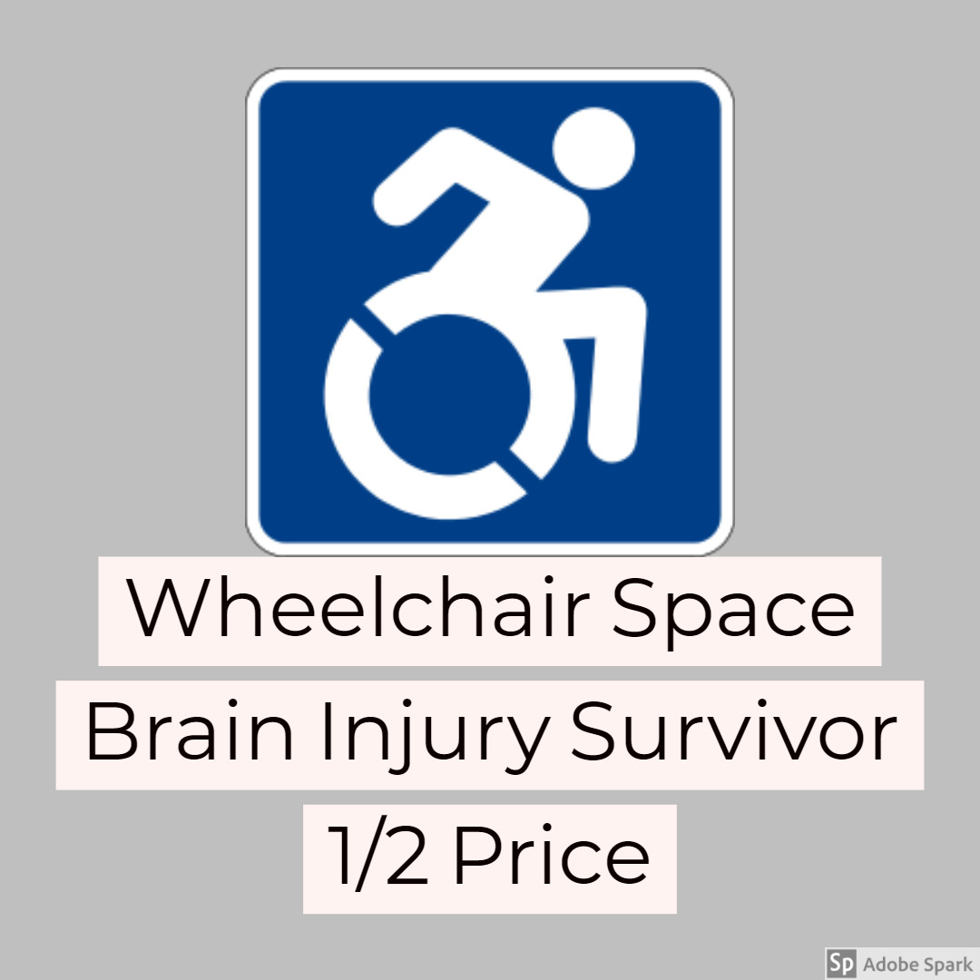 Oliver  - Brain Injury Survivor - WHEELCHAIR SPACE  (1/2 regular price)