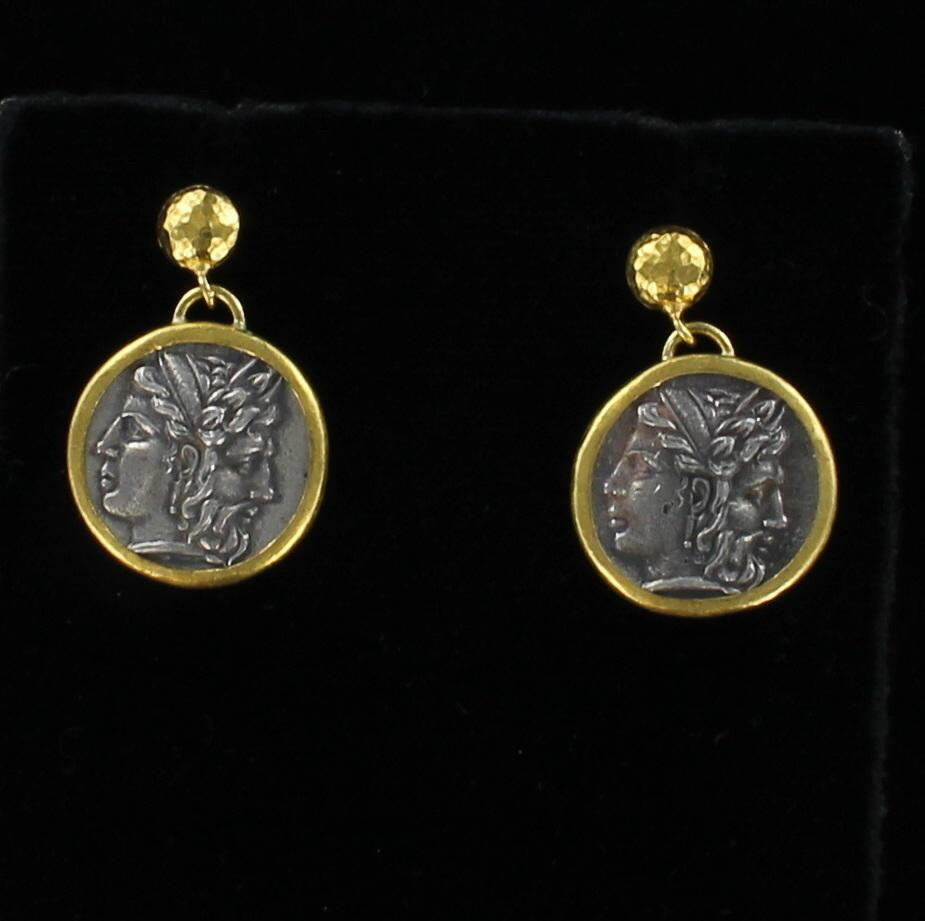 24KT/SILVER COIN EARRINGS