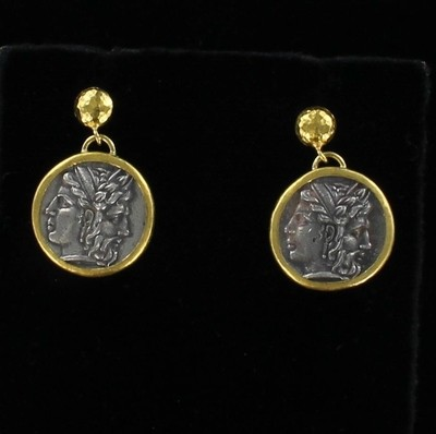 24KT/SILVER COIN EARRINGS