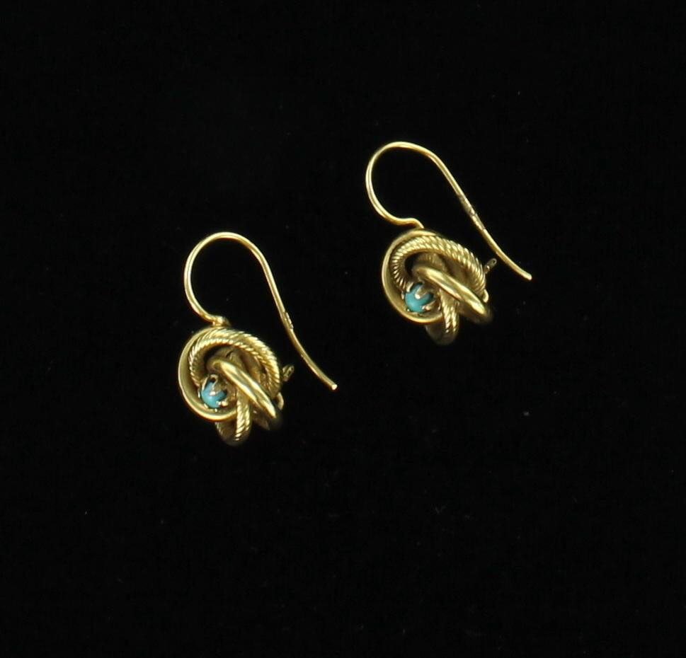 18KT VICTORIAN TURQUOISE EARRINGS