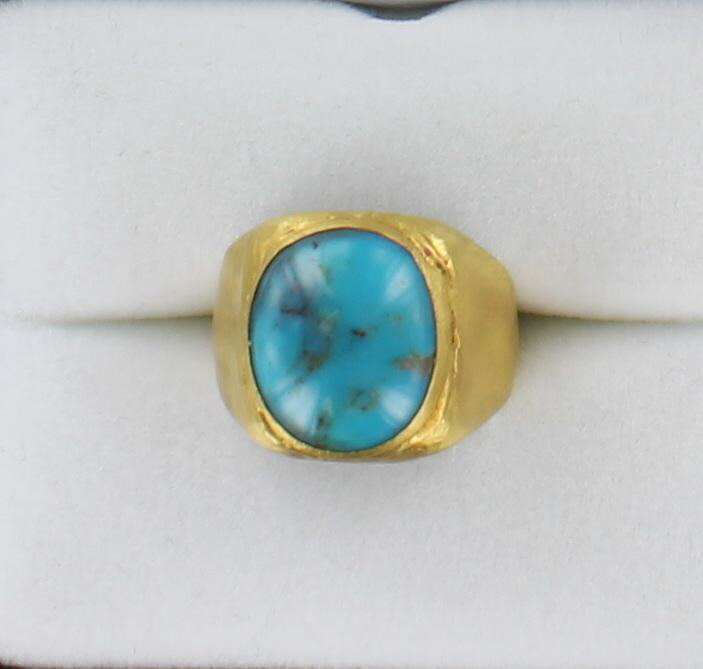 24KT/S TURQUOISE RING 198-23952