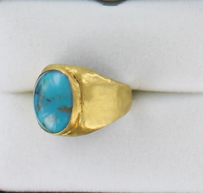 24KT/S TURQUOISE RING