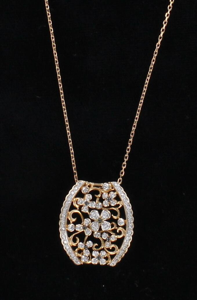 14KT ROSE GOLD FLOWER PENDANT