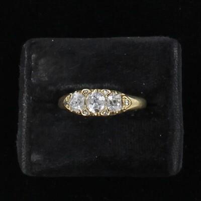 18KT 1.20 CT TW OLD EUROPEAN DIAMOND RING CIRCA 1881