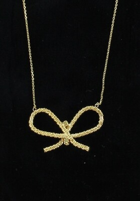 18KT YELLOW GOLD BOW NECKLACE
