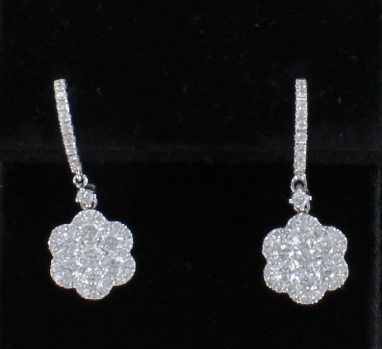 18KT 2.21 CT TW DIAMOND EARRINGS