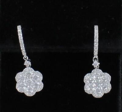 18KT 2.21 CT TW DIAMOND EARRINGS