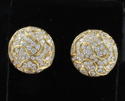 18KT 5.0 CT TW DIAMOND EARRINGS