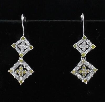 14KT 2.0 CT TW DIAMOND DANGLE EARRINGS
