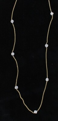 14KT 1.29 CT TW DIAMOND BY THE YARD CHAIN
