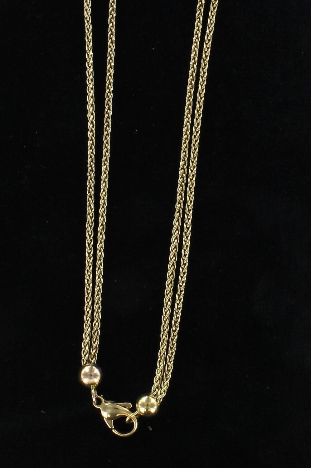 18KT WATCH CHAIN, CIRCA 1930