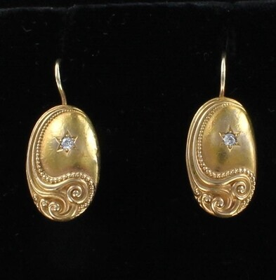 14KT VICTORIAN EARRINGS