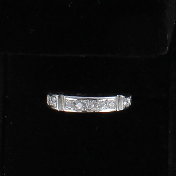 14KTW .75 CT TW DIAMOND ETERNITY BAND, SZ 7.5