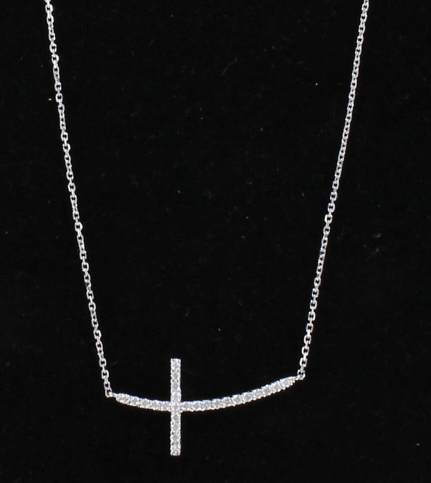 14KT DIAMOND CROSS PENDANT