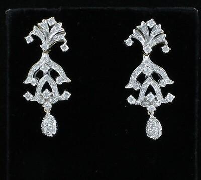 14KT/T 2.75 CT TW DIAMOND EARRINGS