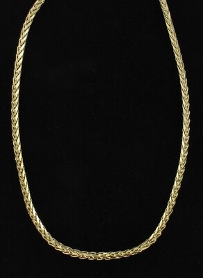 14KT YELLOW GOLD ROUND WHEAT CHAIN