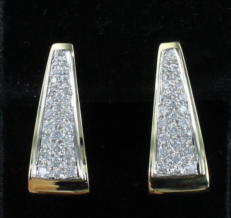 18KT 3.25 CT TW ROUND BRILLIANT DIAMOND HOOP EARRINGS