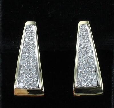 18KT 3.25 CT TW ROUND BRILLIANT DIAMOND HOOP EARRINGS