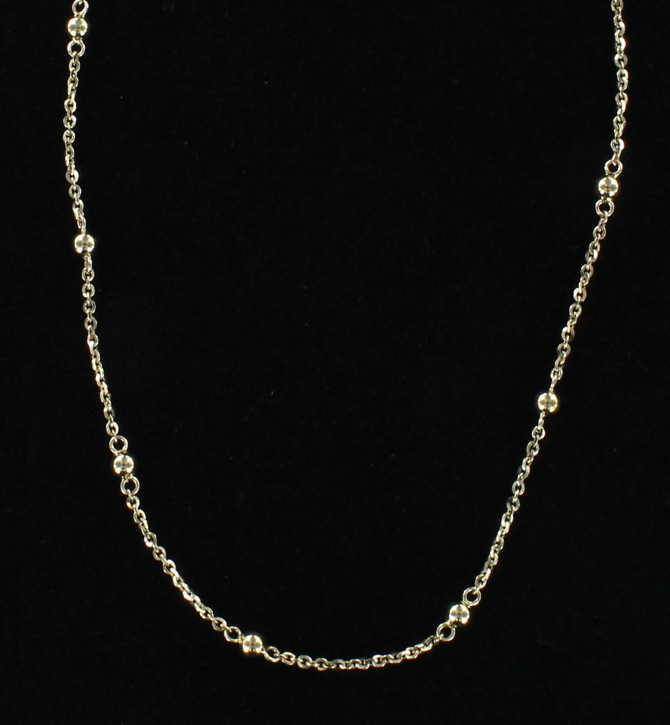 14KT YELLOW GOLD BALL CHAIN
