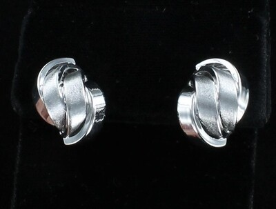14KT WHITE GOLD EARRINGS
