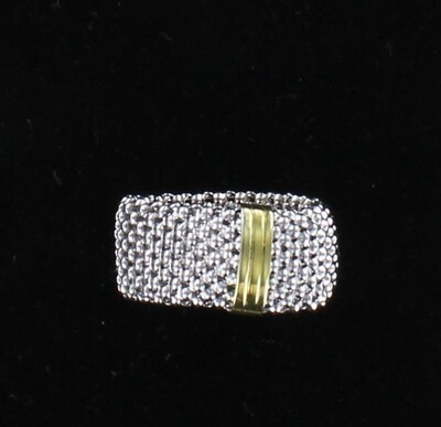 14KT FLEXIBLE MESH BAND, SZ 8