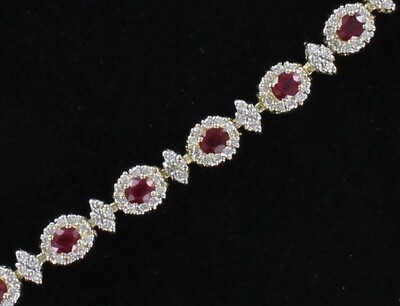 14KT RUBY AND DIAMOND BRACELET