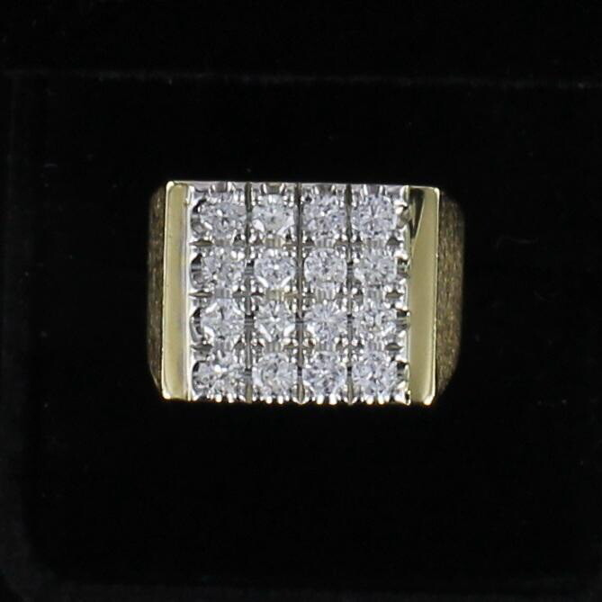14KT 1.60 CT TW ROUND DIAMOND RING