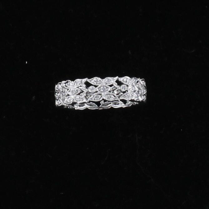 18KT .75 CT TW DIAMOND BAND, SZ 6.5