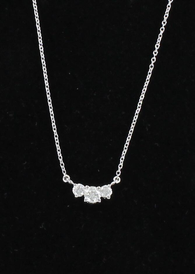 14KT .50 CT TW DIAMOND NECKLACE