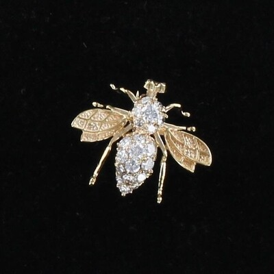 14KT 1.0 CT TW DIAMOND BEE PIN