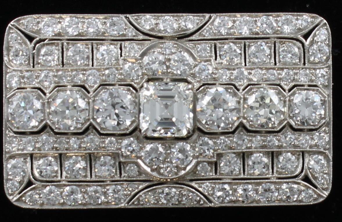 ART DECO PLATINUM DIAMOND PIN/PENDANT