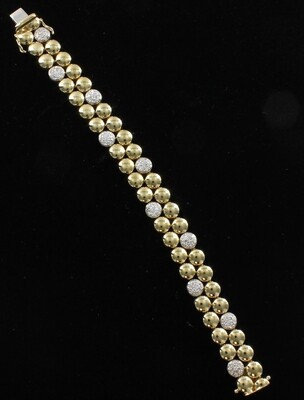 18 KT TWO-TONE DIAMOND BRACELET