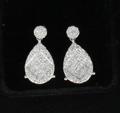 14KT 3.40 CT TW DIAMOND EARRINGS