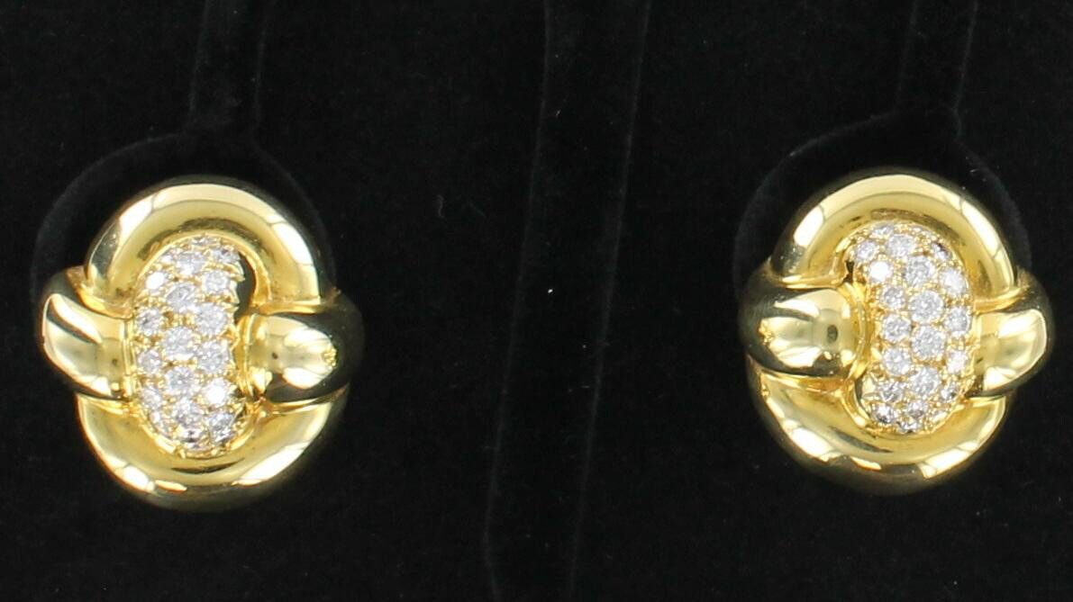 14KT YELLOW GOLD 3.0 CT TW DIAMOND EARRINGS
