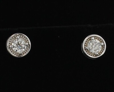 1.45 CT. TOTAL WEIGHT DIAMOND EARRINGS