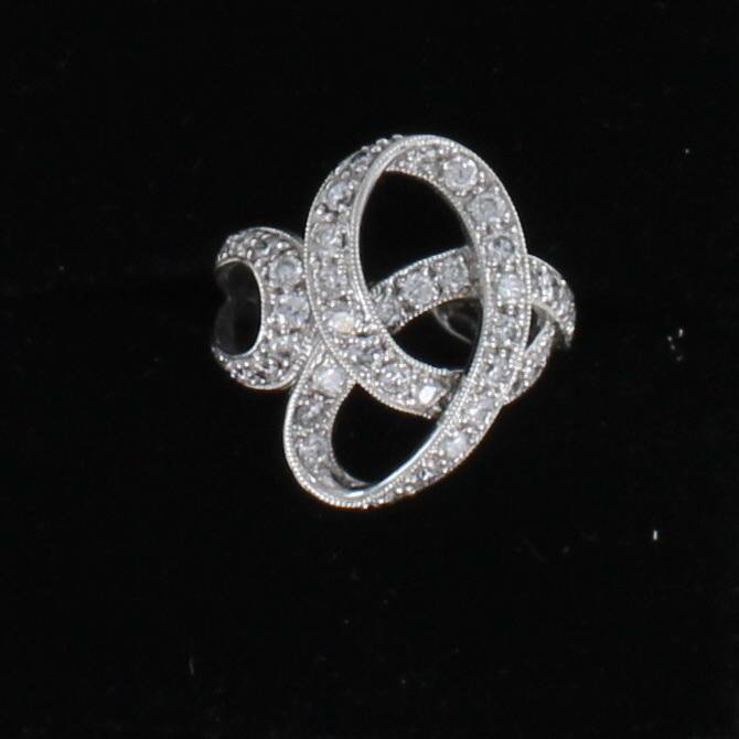 14KT DIAMOND SWIRL RING 198-1879