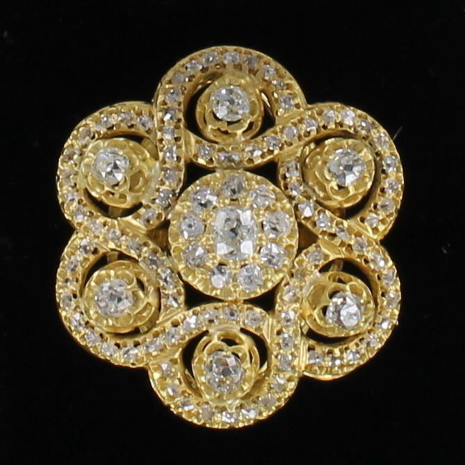18KT DIAMOND RING CIRCA 1920 198-12263