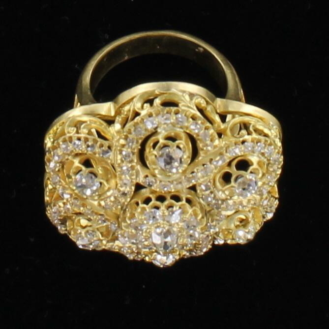 18KT DIAMOND RING CIRCA 1920