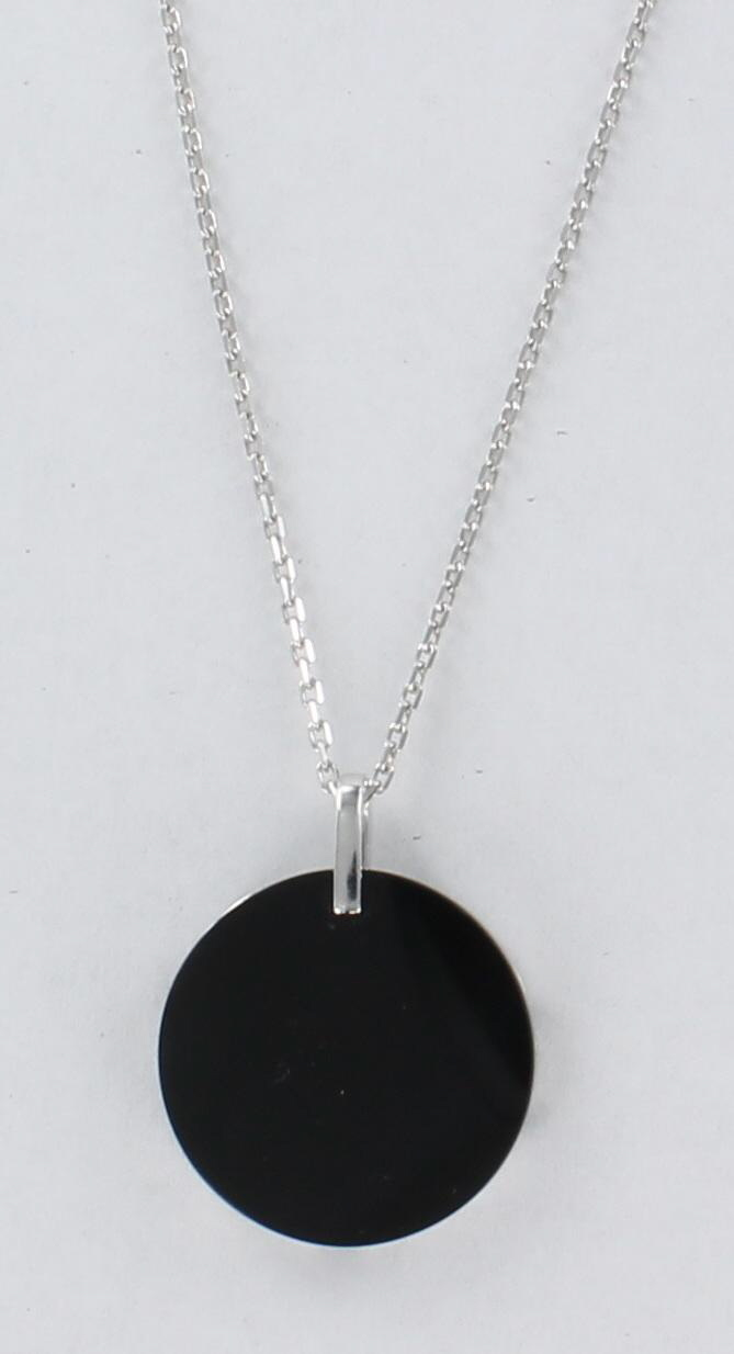 18KT ONYX AND DIAMOND NECKLACE