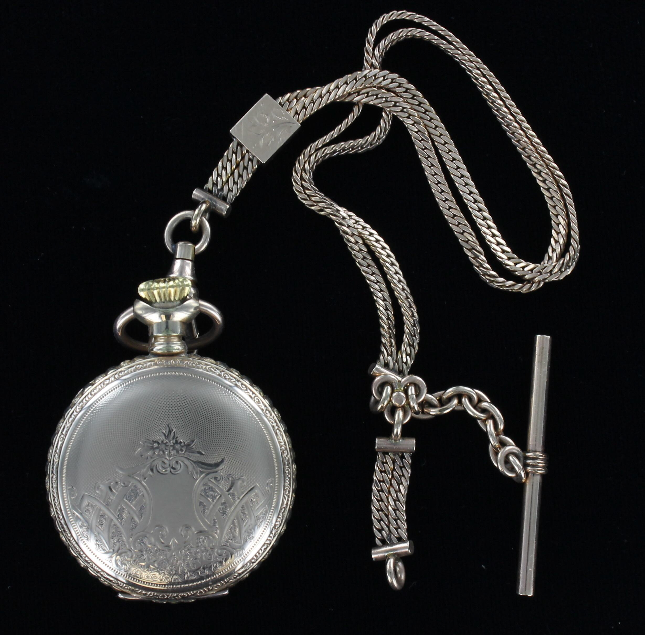 GOLD-FILLED POCKET WATCH AND CHAIN 1930 198-2850