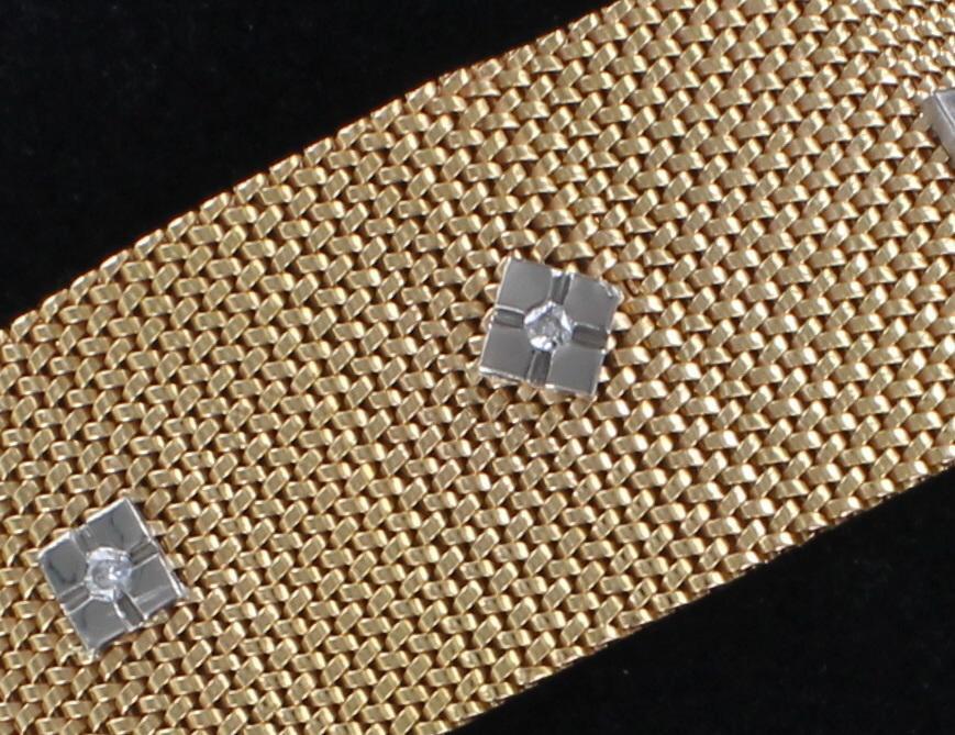 18KT BRACELET WITH DIAMONDS 198-22549