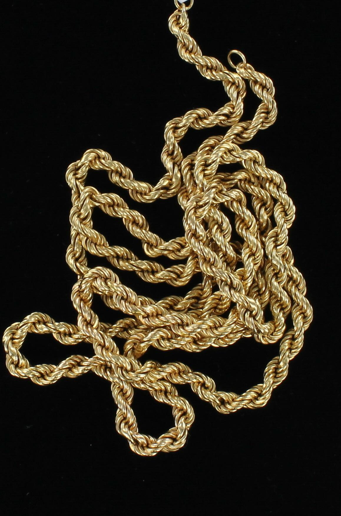 18KT CHAIN, 30 INCHES