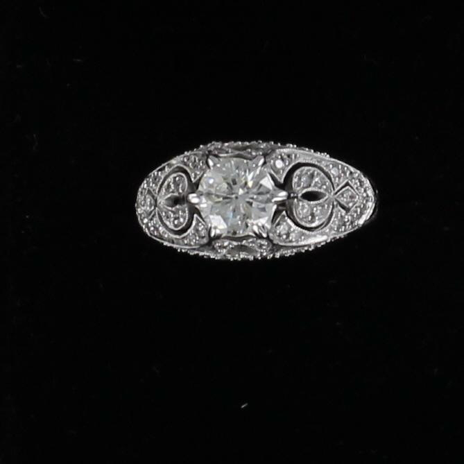 18KT 1.0 CT OLD MINE CUT DIAMOND RING 205-2259