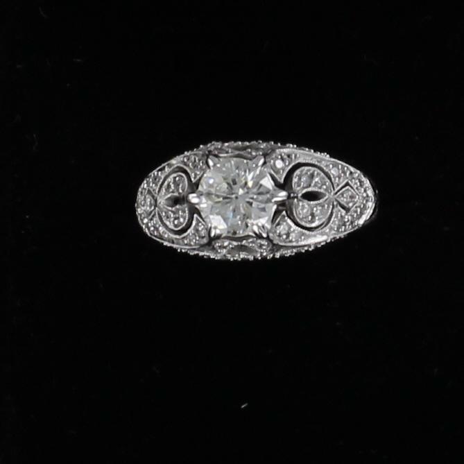 18KT 1.0 CT OLD MINE CUT DIAMOND RING