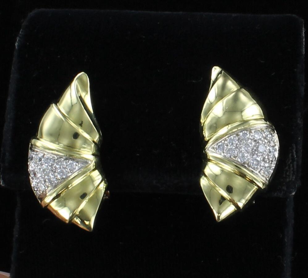 18KT 1.0 CT TW DIAMOND EARRINGS 205-2369
