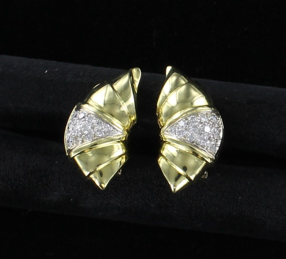 18KT 1.0 CT TW DIAMOND EARRINGS