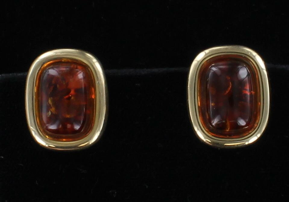 14KT AMBER EARRINGS 205-2368